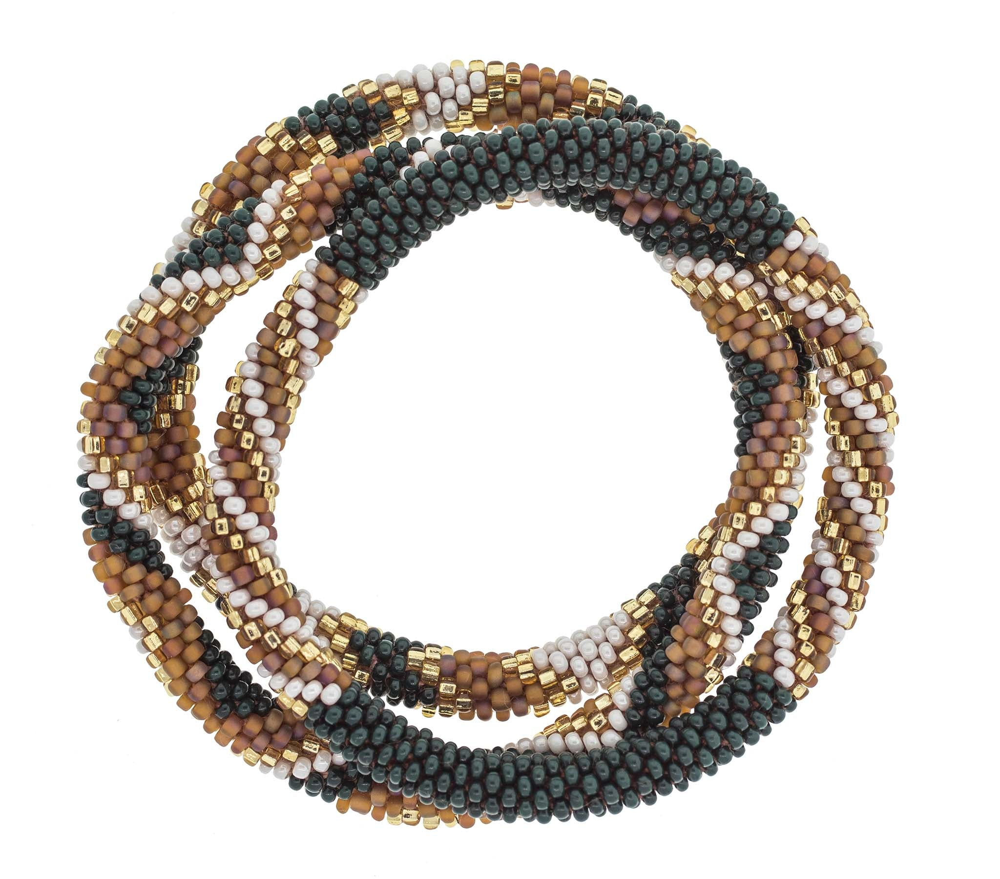 Roll On Bracelets Set of 3, Spruce