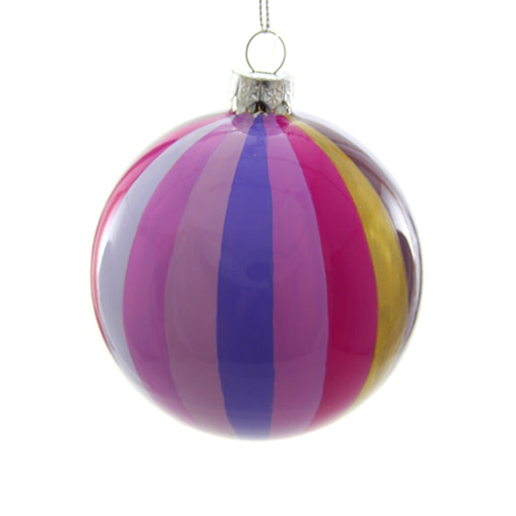 Purple Tonal Pinwheel Bauble Ornament