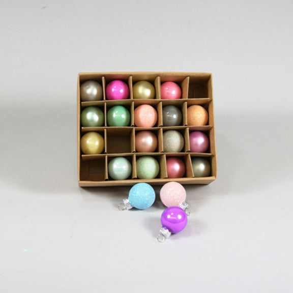 Pastel Boxed Ornament Set of 20