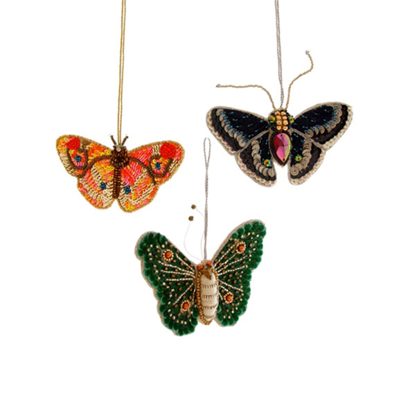 Stitched Butterfly Ornaments