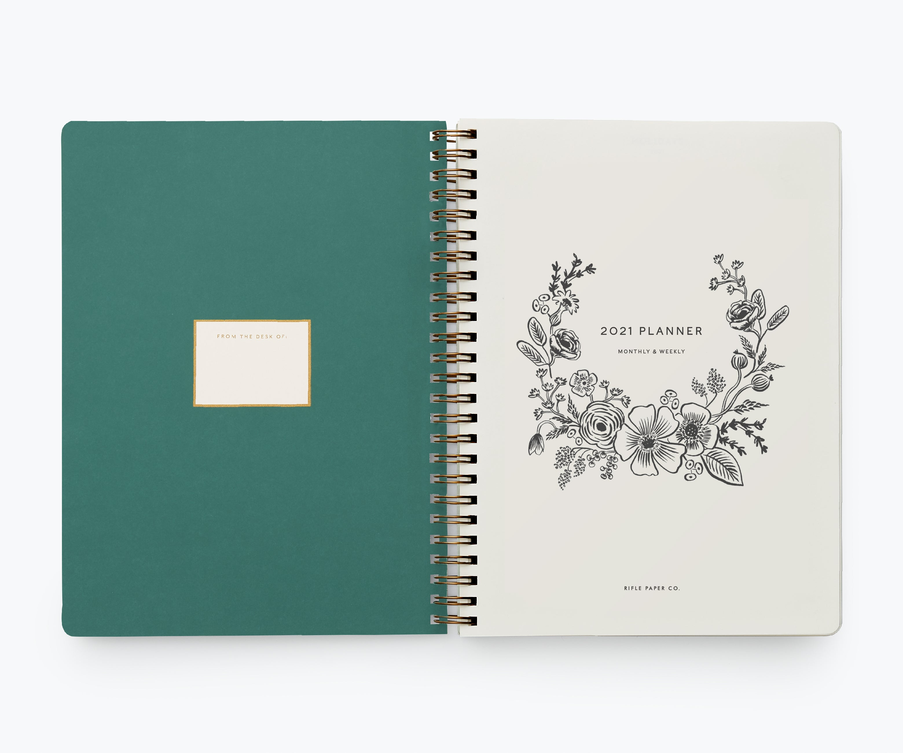 2021 12-Month Softcover Spiral Planner, Strawberry Fields