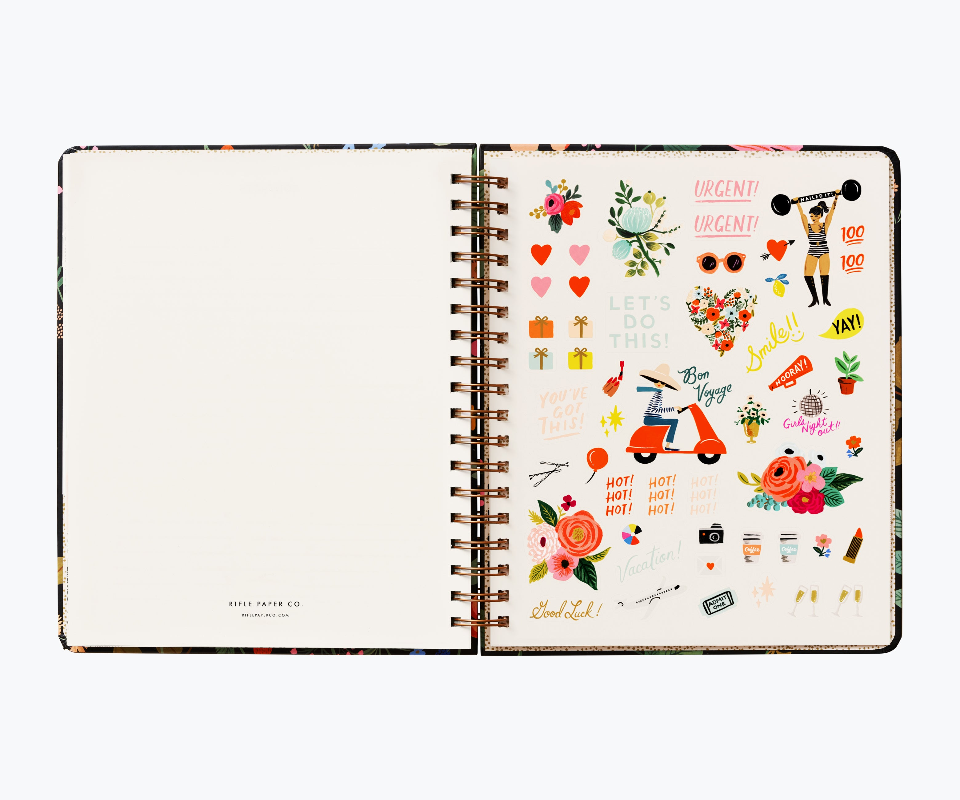 2021 17-Month Large Planner, Strawberry Fields