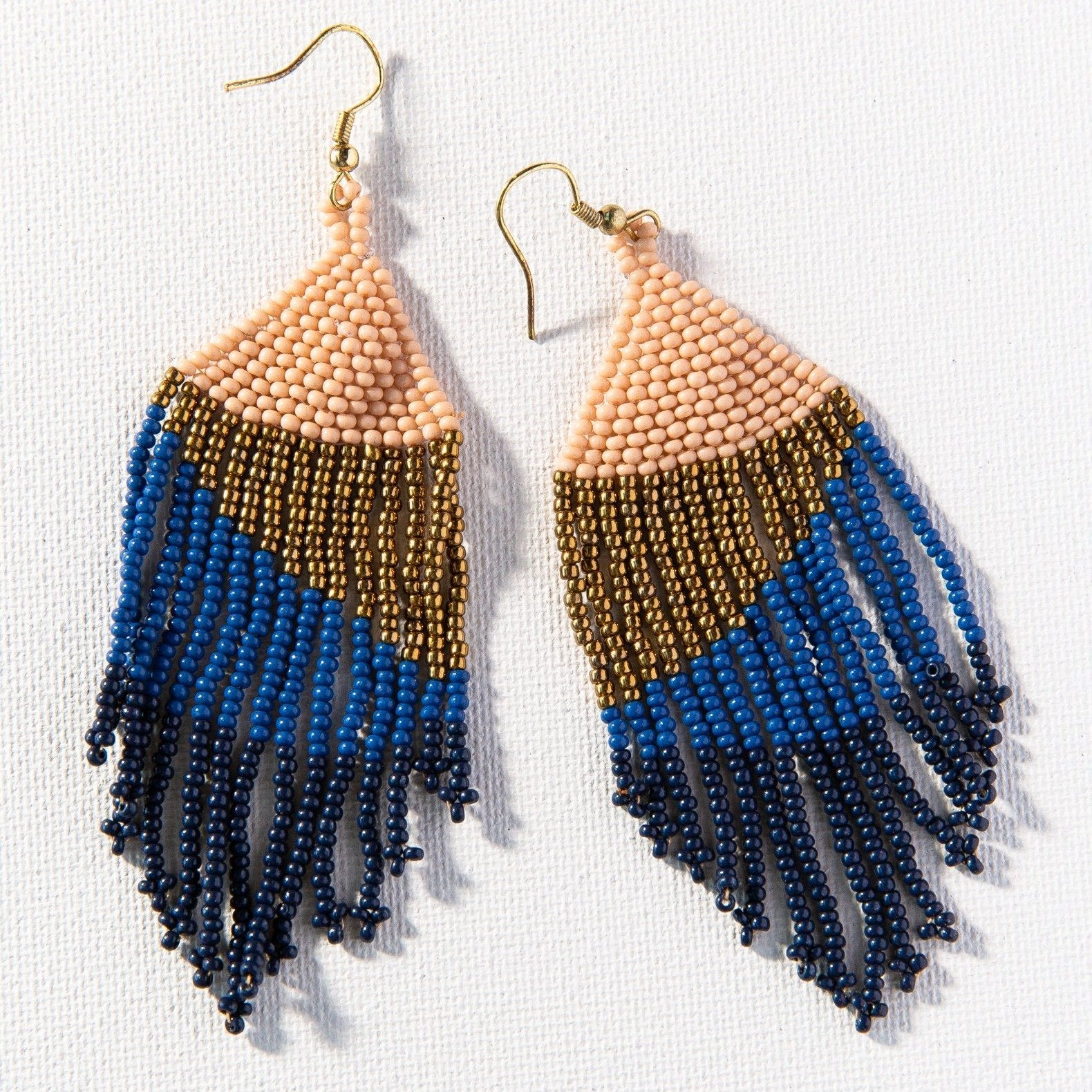Ombre Earrings - Navy