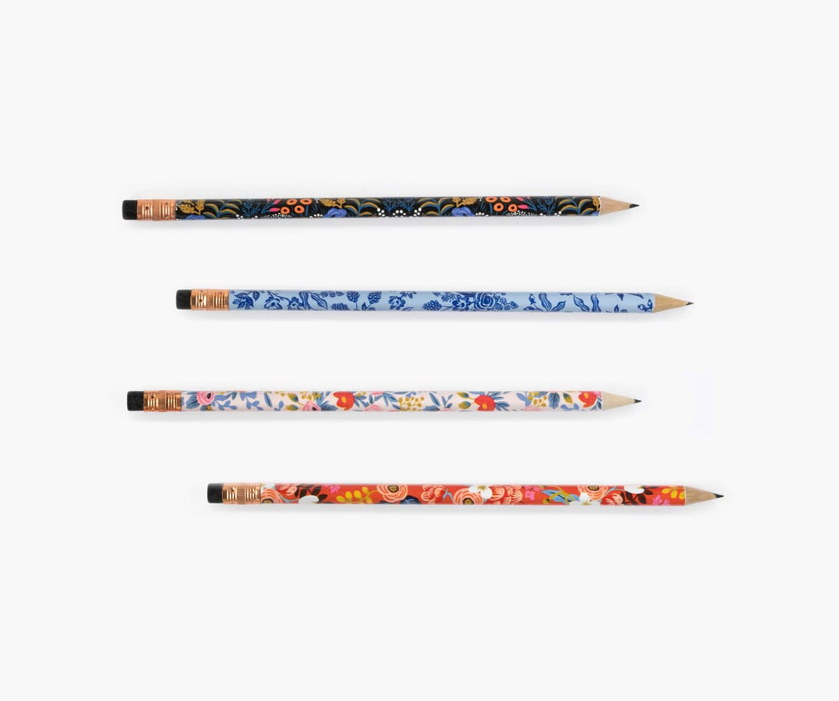 Writing Pencils, Floral