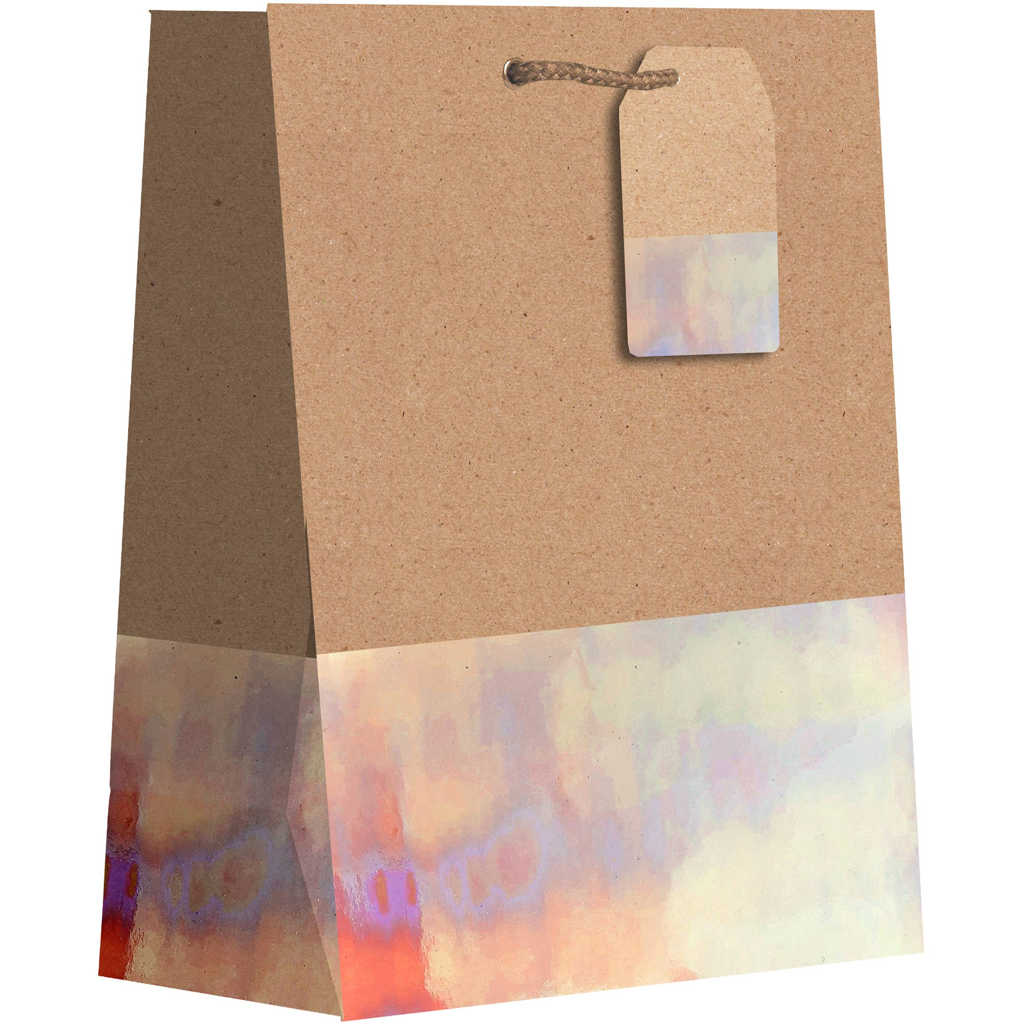 Iridescent Gold Dipped Kraft Tote