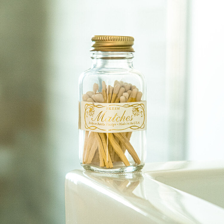 Vintage Mini Match Bottle