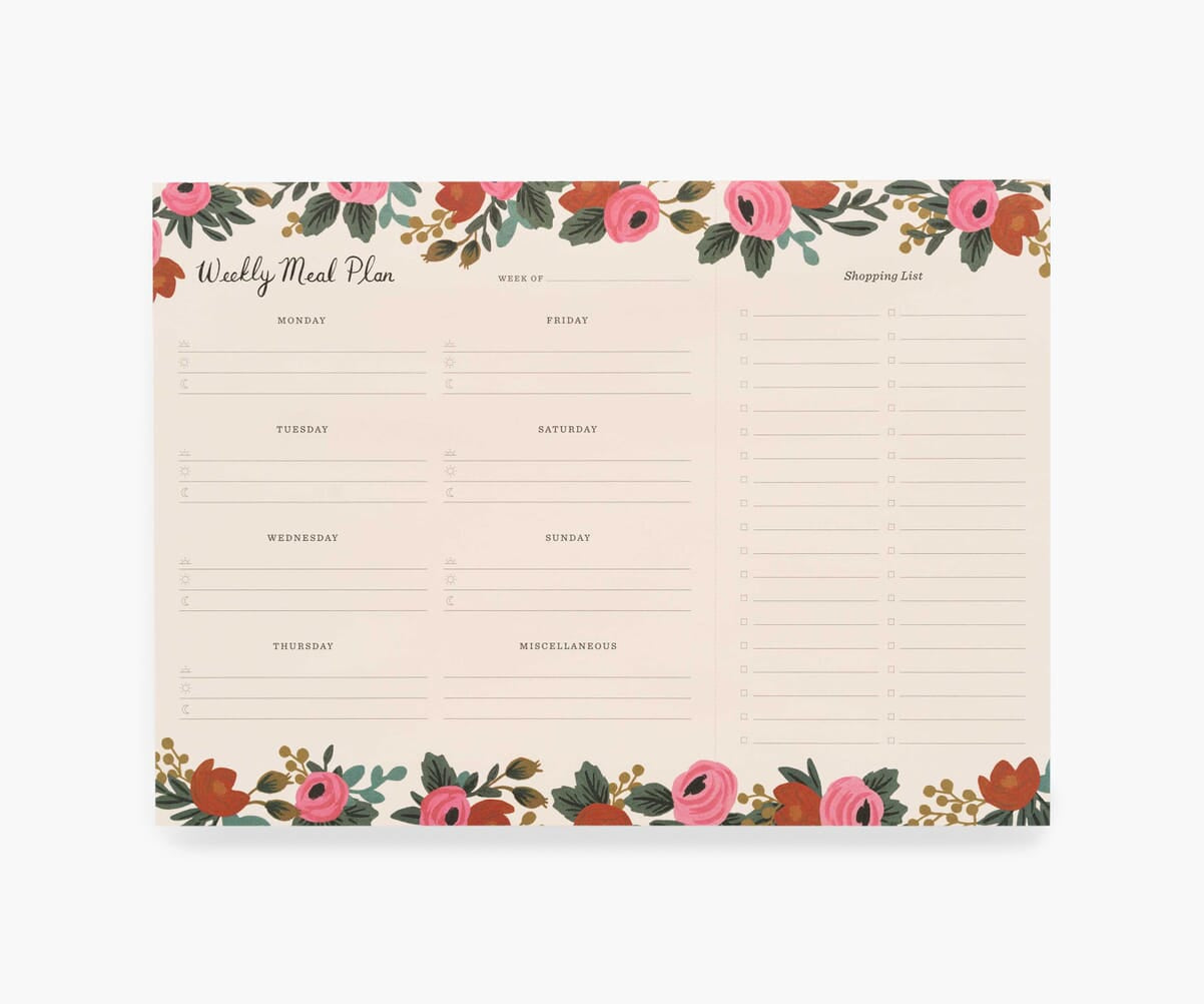 Weekly Meal Planners