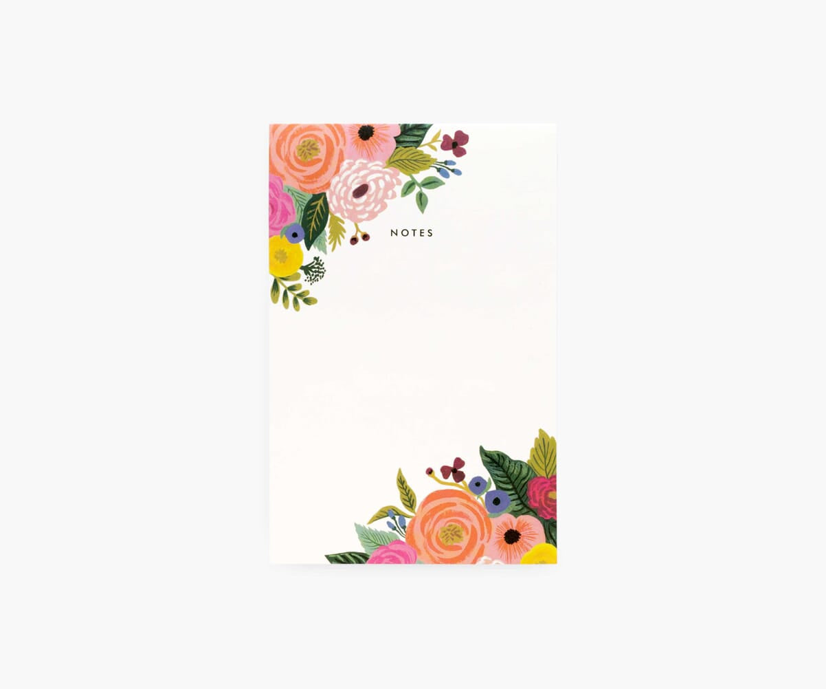 Blank Floral Notepads