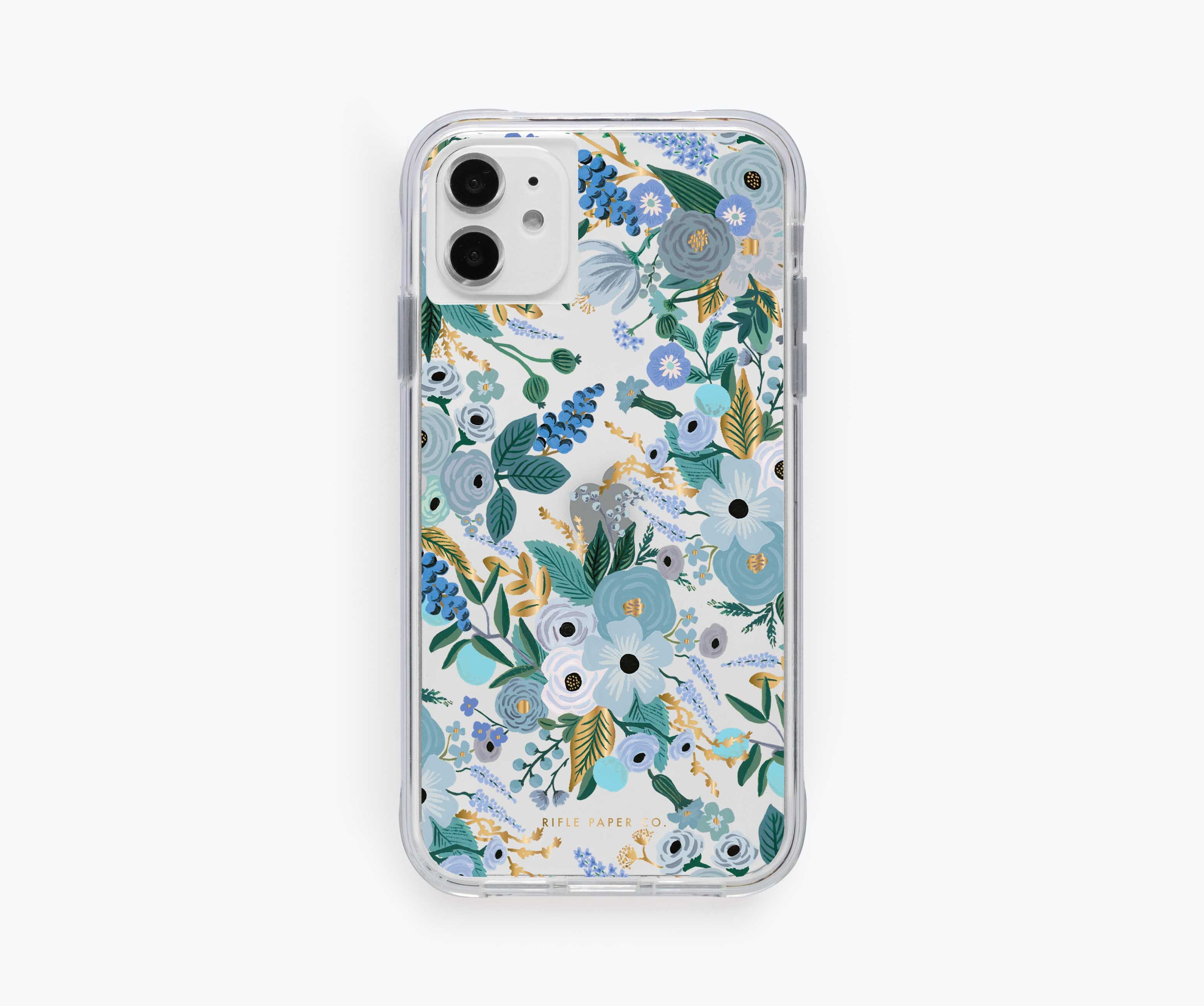 Clear Garden Party Blue iPhone Case