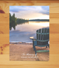 Chair by Lake Sympathy Card