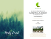 Tree Planting in a US National Forest with Mailed Sympathy Greeting Card