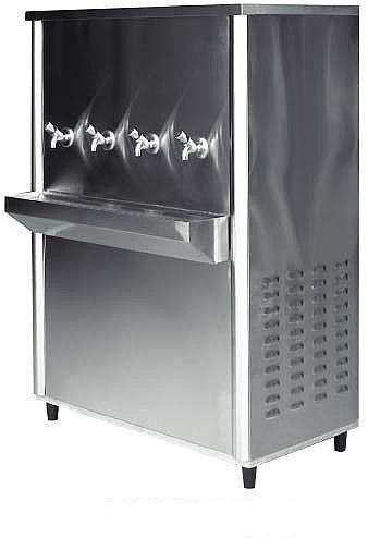 Silver Stainless Steel Water Cooler For Commercial Model DWC85-4