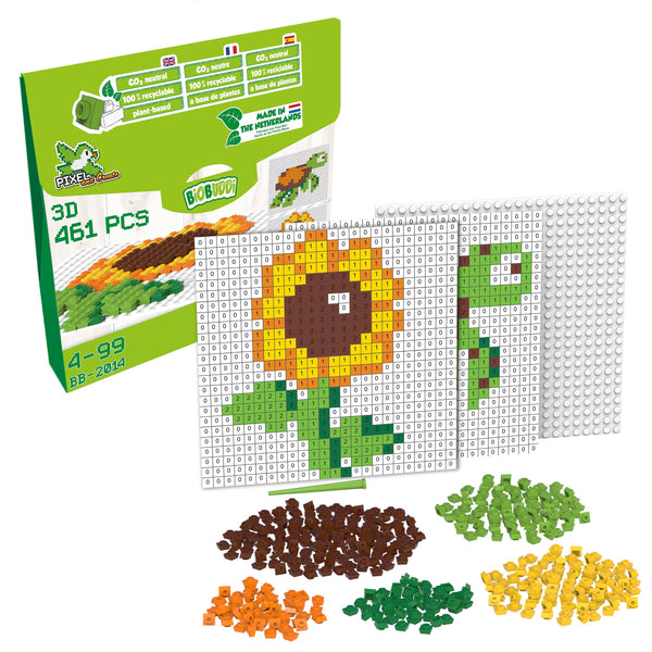 Pixel & Create Flower and Turtle - BiOBUDDi
