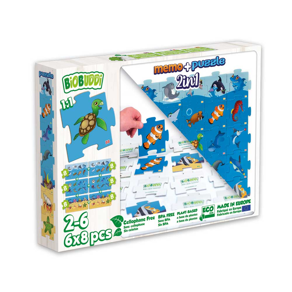 Memo & Puzzle Sealife 2 in 1