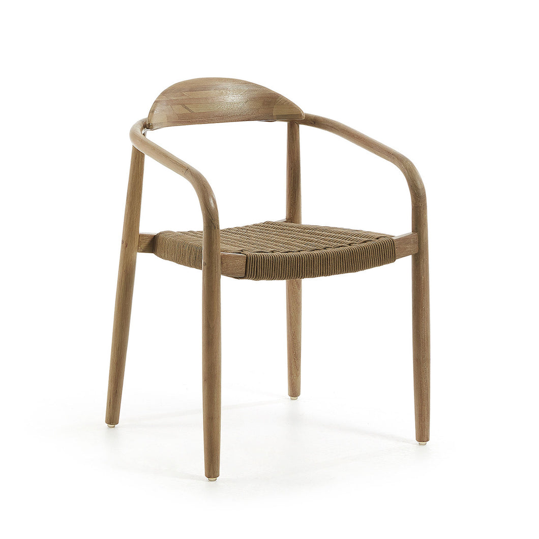 Glynis Dining Chair | Black/Natural