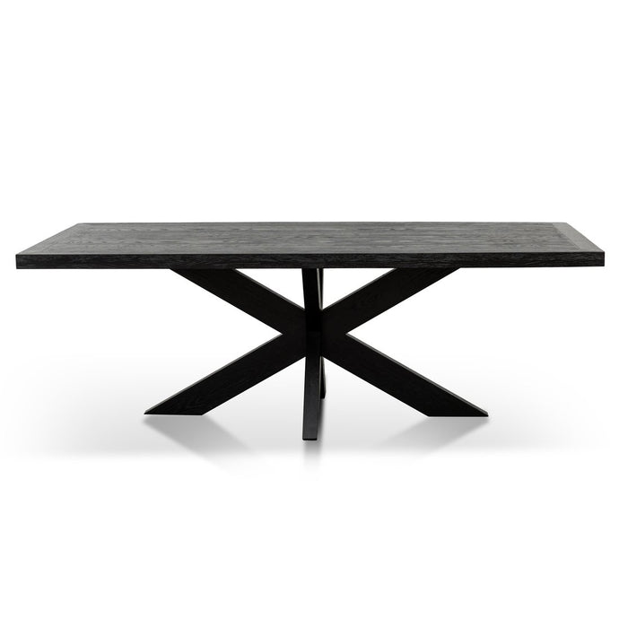 Wooden Dining Table 2.2m | Black