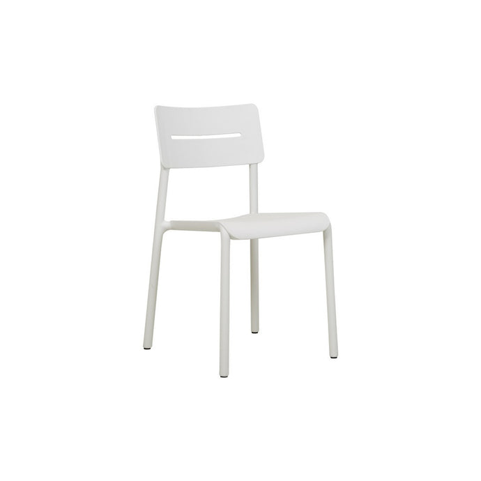 Outo Alfresco Dining Chair | White/Black/Green
