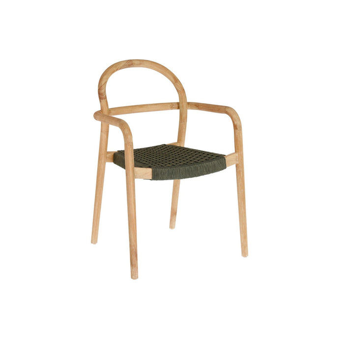 Sheryl Dining Chair | Eucalyptus timber I Olive rope