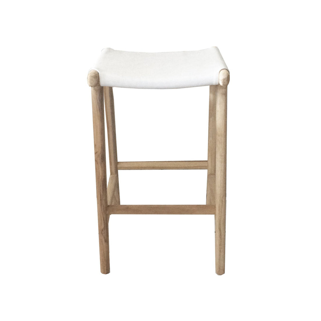 Marvin Bar Stool | White Leather