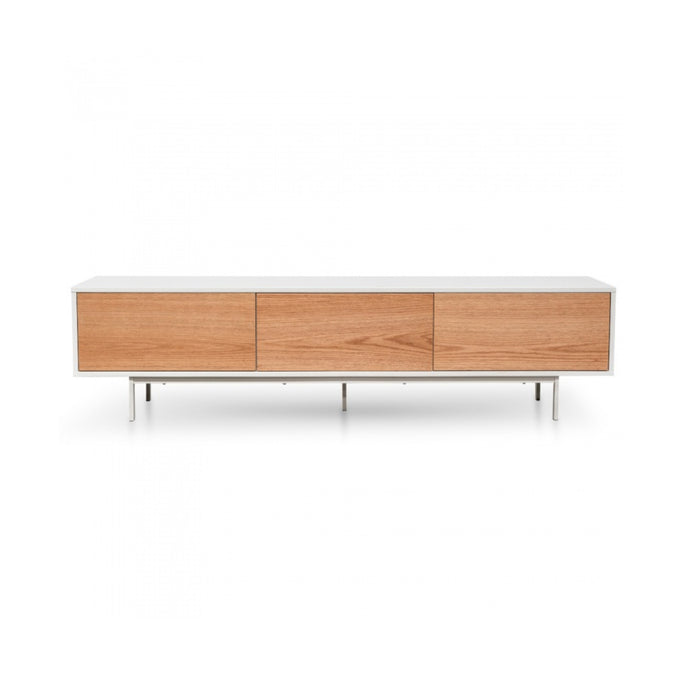 Alto TV Unit 2m | White/Natural