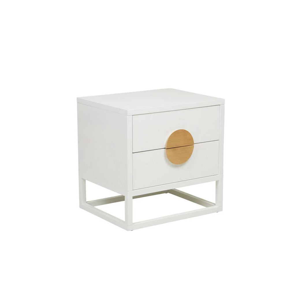 Benjamin Bedside Table | White/Natural/Black/Dark Teal