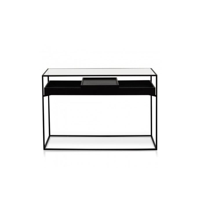 Norman Metal Frame Console Table | Black