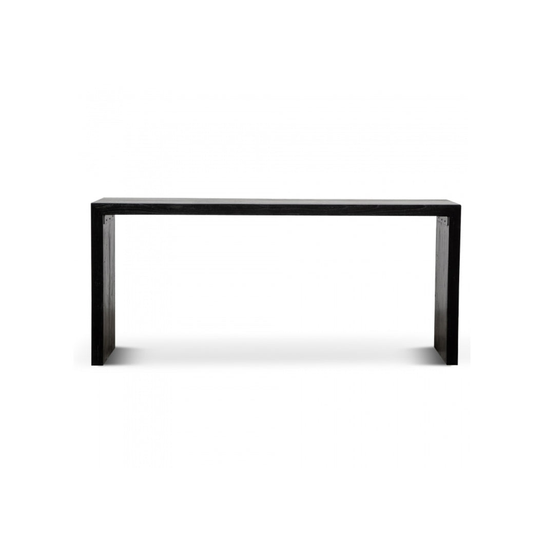Hegan Wood Console Table 1.8m | Black/Natural