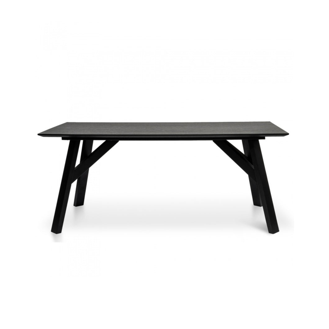 Scandinavian Dining Table 1.8m | Black