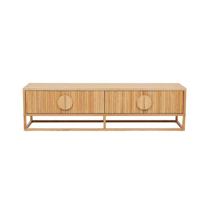 Benjamin Ripple TV Unit | Black/Natural Ash