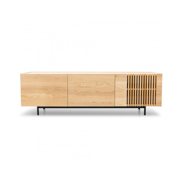 Onito 180cm Entertainment Unit | Natural/Black