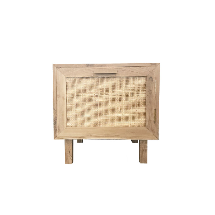 Felix Rattan Bedside Table | Natural/Black