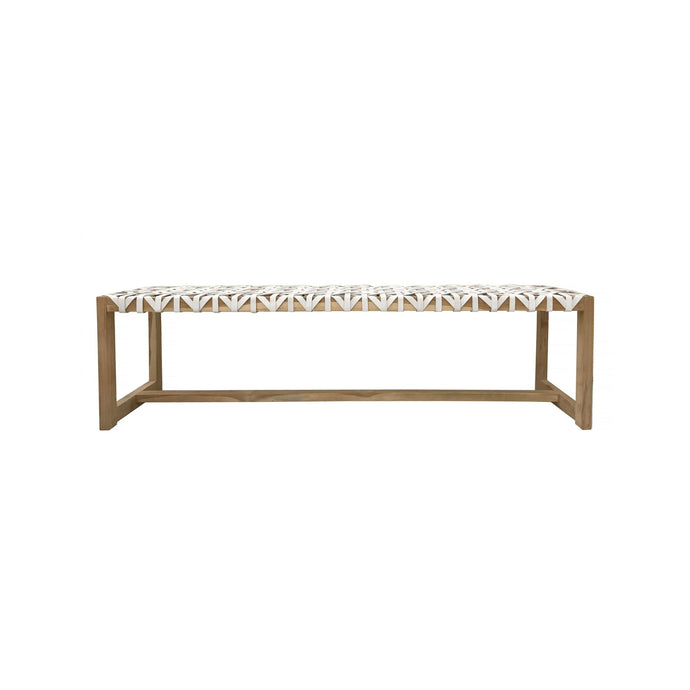 Richard Bench Seat | White/Black/Toffee