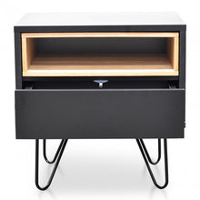 Load image into Gallery viewer, Anthony Bedside Table | Black