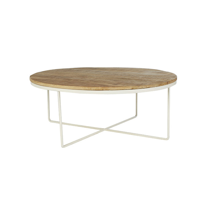 Flinders Round Coffee Table | Black/Natural/White
