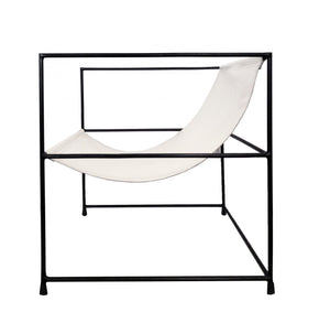 Line Chair Leather | Black/White