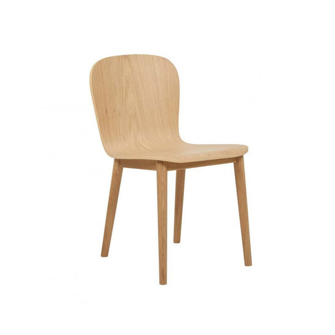 Puddle Dining Chair | Light Oak/Black Onyx