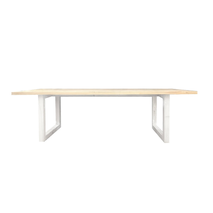 Terence Rectangle Dining Table 2.4m | Black/White