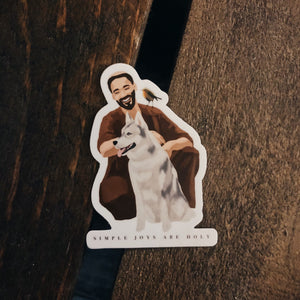 St. Francis Sticker