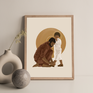 St. Joseph, Model of Humility Print