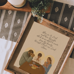 Holy Family Meal Prayer Print