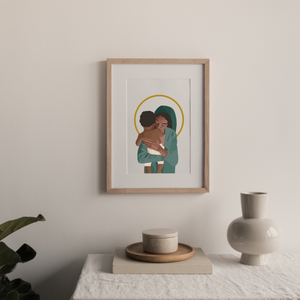 Madonna and Child of Soweto Print