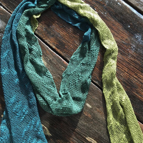 Shifting Silk Scarf Kits w/pattern