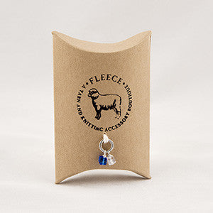 Fleece Sapphire and Clear Stitch Markers