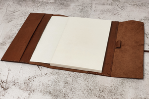 A5 Leather Journal With Lace Closure - 112 Pages