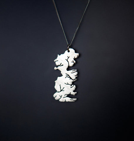 Game of Thrones Westeros Map Necklace