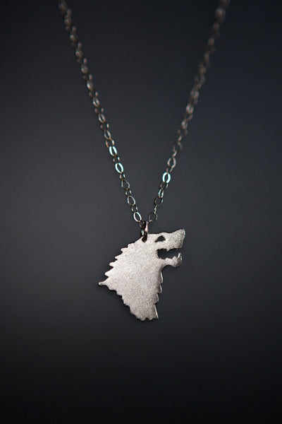 House Stark Necklace: Sterling Silver