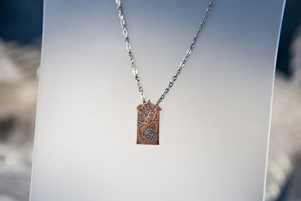 Doctor Who Rose and the TARDIS Necklace: Copper