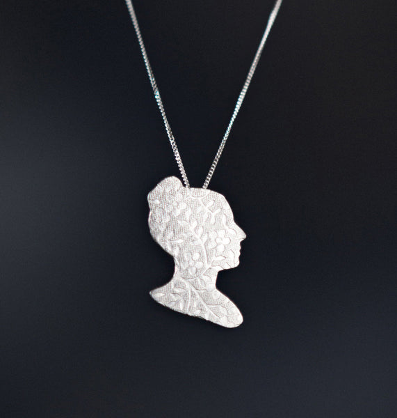 Mathematician Sophie Germain Cameo Necklace