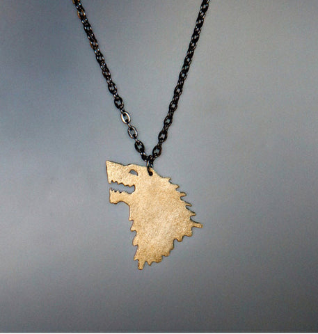 House Stark Necklace: Brass