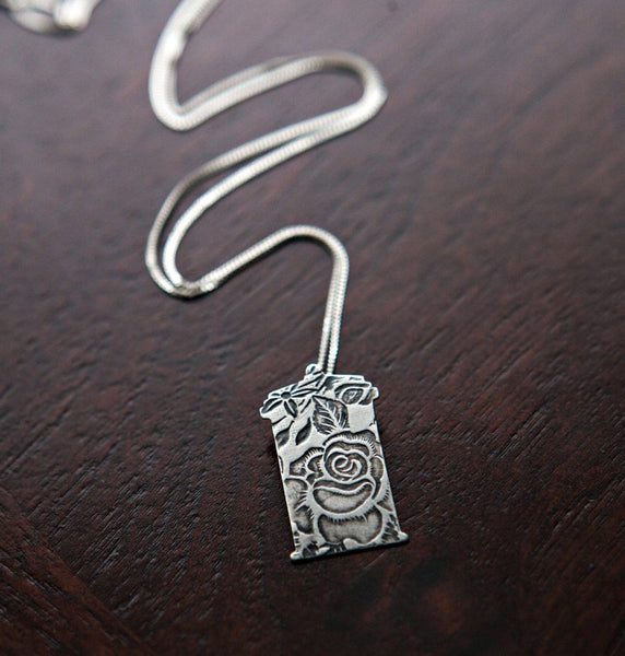 Doctor Who Rose and the TARDIS Necklace: Sterling Silver